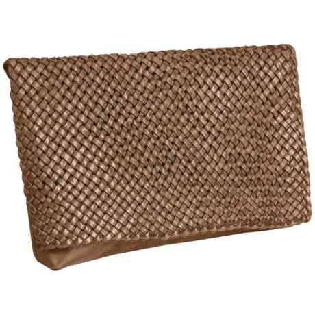 Motif56 Lattice Leather Clutch (For Women)