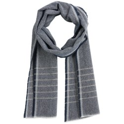 Faribault Woolen Mill Co. Box Weave Stripe Scarf - Wool (For Men and Women)