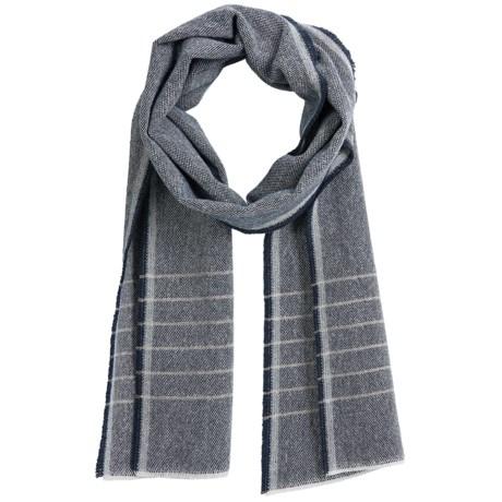 Faribault Woolen Mill Co . Box Weave Stripe Scarf - Wool (For Men and Women)