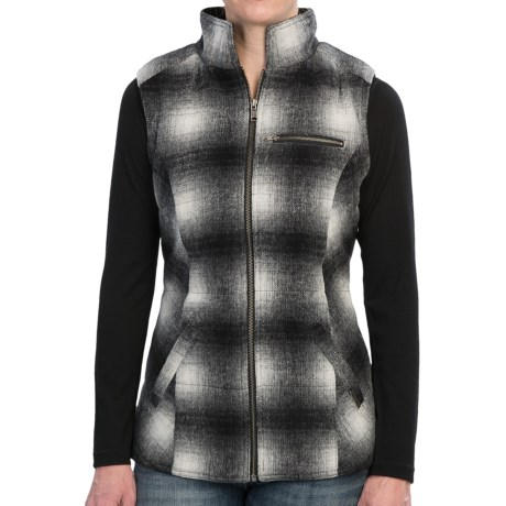 Powder River Outfitters Heather Plaid Wool Vest - Fleece Lining (For Women)