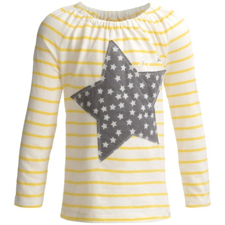 Cotton Knit Applique T-Shirt - Long Sleeve (For Toddler Girls)