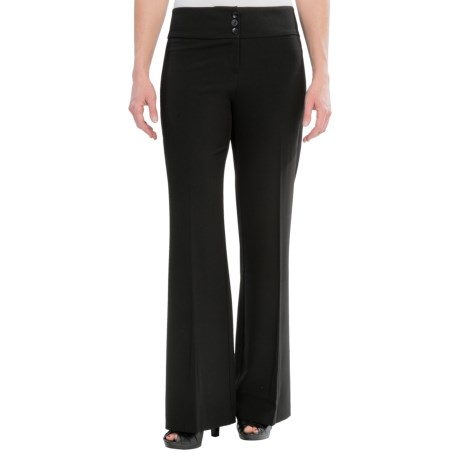 Relaxed Fit Stretch Crepe Dress Pants - Straight Leg (For Women)
