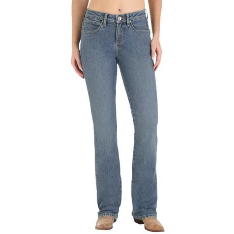 Wrangler Aura Instantly Slimming Jeans - Straight Leg (For Women)