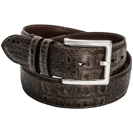 Torino King Gator Belt - Embossed Leather (For Men)
