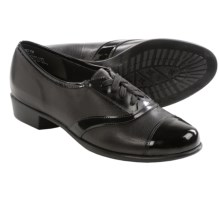 Munro American Ascot Shoes - Leather (For Women) in Black Leather/Black Patent - Closeouts
