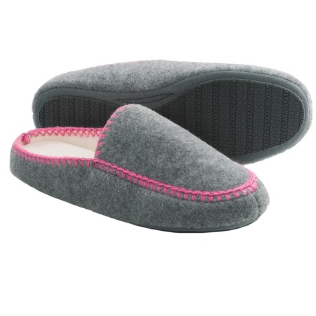 Acorn Blanket Stitch Mule Slippers (For Women)