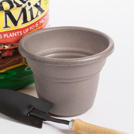 """Garden Scene Milano Flower Pot - 10"""" Diameter"""