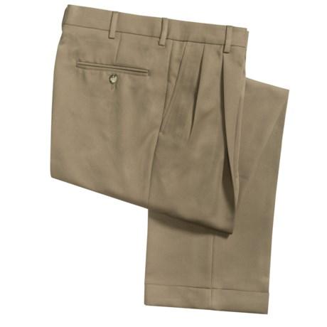 Barry Bricken Microfiber Twill Pants - Pleated (For Men)