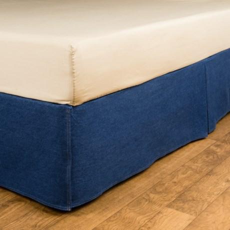 pendleton denim tailored bed skirt king 7659r save 58