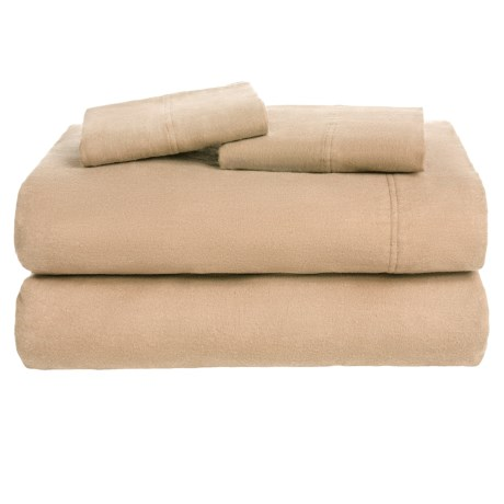 Azores Home Solid Flannel Sheet Set - King, Deep Pockets