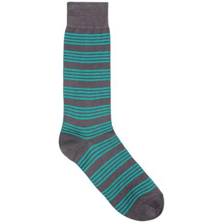 Pantherella Stripe Dress Socks - Mid-Calf (For Men)