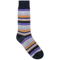 Pantherella Bright Stripes Dress Socks - Mid-Calf (For Men)