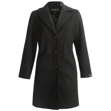 Kristen Blake Single-Breasted Walking Coat - Lambswool Blend (For Plus Size Women)
