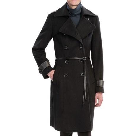 George Simonton Military Walker Coat - Lambswool (For Women)