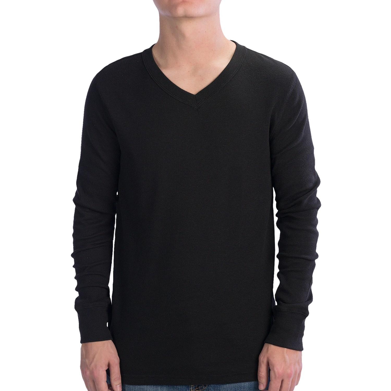 Black Hanes t Shirt Hanes V-neck Waffle Shirt