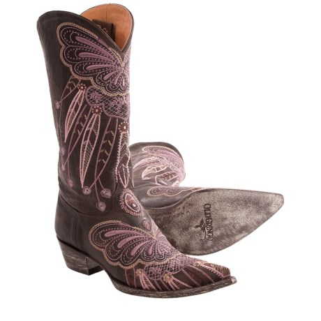 Old Gringo Lakota Butterfly Cowboy Boots - Leather, Snip Toe (For Women)