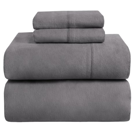 Azores Home Heavyweight Flannel Sheet Set - King, 200gsm Cotton