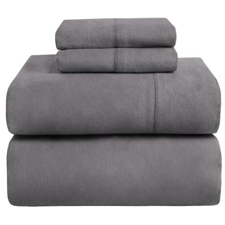 Azores Home Heavyweight Flannel Sheet Set - Queen, 200gsm Cotton