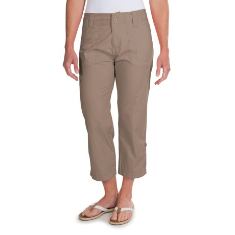 White Sierra Canyon Cargo Capris (For Women)