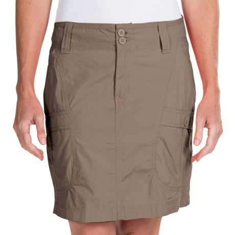 White Sierra Canyon Cargo Skirt (For Women)