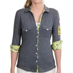 Alp-n-Rock Cotton Knit Button-Up Shirt - 3/4 Sleeve (For Women)