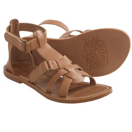 Kickers Djack V2 Leather Sandals (For Girls)