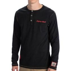 Alp-n-Rock Cotton Henley Shirt - Long Sleeve (For Men)