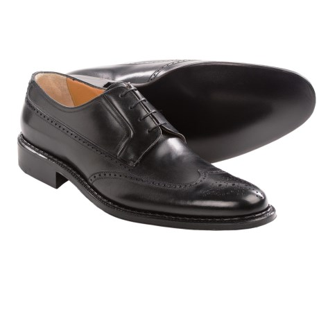 A. Testoni English Leather Wingtip Shoes (For Men)