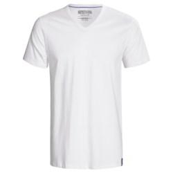 Kenneth Cole Reaction Cotton V-Neck T-Shirts -3-Pack, Short Sleeve (For Men)