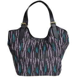 Twelfth Street by Cynthia Vincent Berkeley Canvas Tote Bag - Pebbled Leather Straps (For Women)