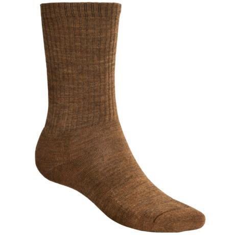 SmartWool Heathered Rib Merino Wool Socks - Crew (For Men and Women)