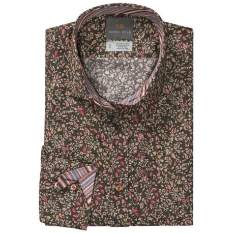 Thomas Dean Mini Print Shirt - Spread Collar, Long Sleeve (For Men)