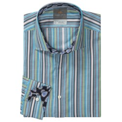 Thomas Dean Pima Cotton Multi-Stripe Shirt - Long Sleeve (For Men)