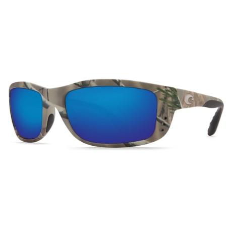 Costa Zane Camo Sunglasses - Polarized 400G Glass Mirror Lenses