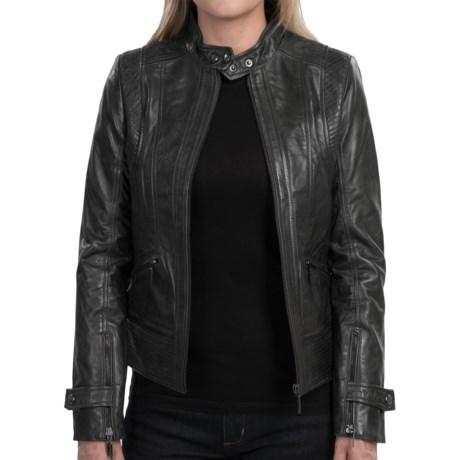Bernardo Leather Jacket (For Women)