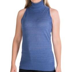 Lafayette 148 New York Lino Cotton Turtleneck - Sleeveless (For Women)