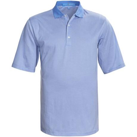 Fairway & Greene Pureformance Lisle Mini-Stripe Polo Shirt - Short Sleeve (For Men)