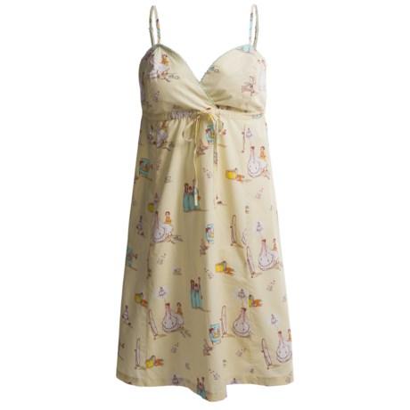Munki Munki Cotton Poplin Nightgown - Spaghetti Strap (For Women)