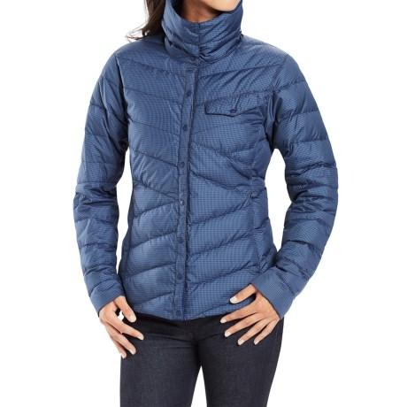 NAU Down Shirt Check Jacket - 800 Fill Power (For Women)