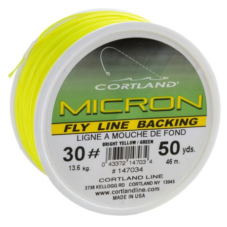 Cortland Micron 30 Fly Line Backing - 50 yds.