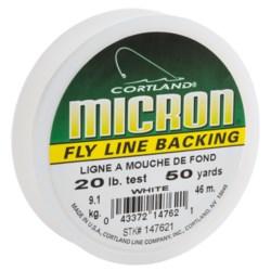 Cortland Micron 20 Fly Line Backing - 50 yds.