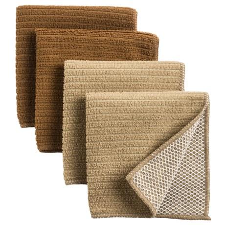 Kane Home Microfiber Dishcloth Scrubbers - Set of 4