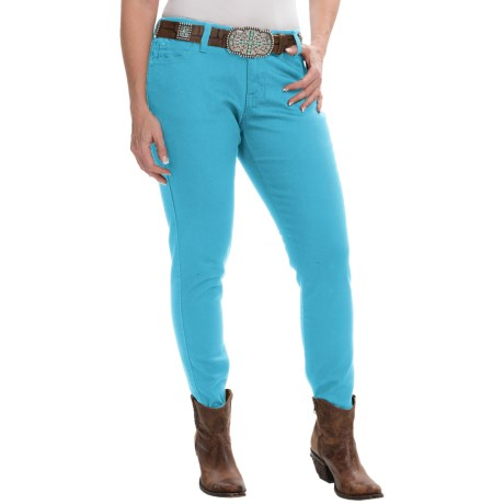 Wrangler Premium Patch Jeans - Ultra-Low Rise (For Women)