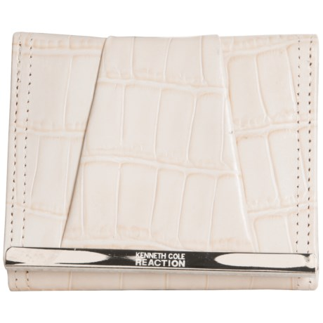 Kenneth Cole Reaction Tri-Fold Wallet - Leather (For Women)