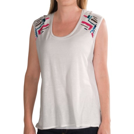 Chaser Boxy Flow Muscle Shirt - Embellished, Sleeveless (For Women)