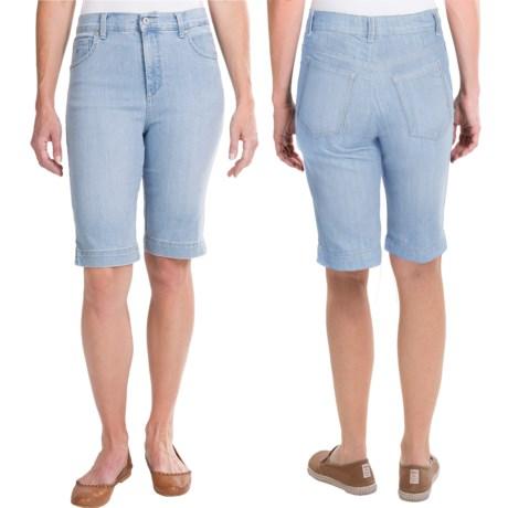 Amanda Bermuda Jean Shorts (For Women)