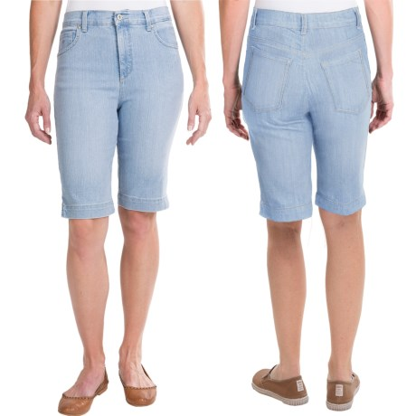 Amanda Bermuda Jean Shorts (For Women)