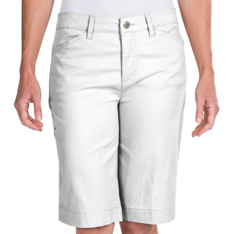 Stretch Cotton Trouser Shorts (For Women)