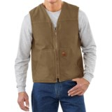 Carhartt Sandstone V-Neck Vest - Sherpa Lined, Factory Seconds (For Big Men)