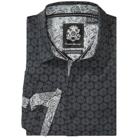 English Laundry Abstract Sport Shirt - Long Sleeve (For Men)